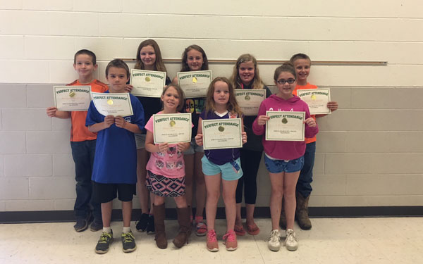 Perfect Attendance Winners